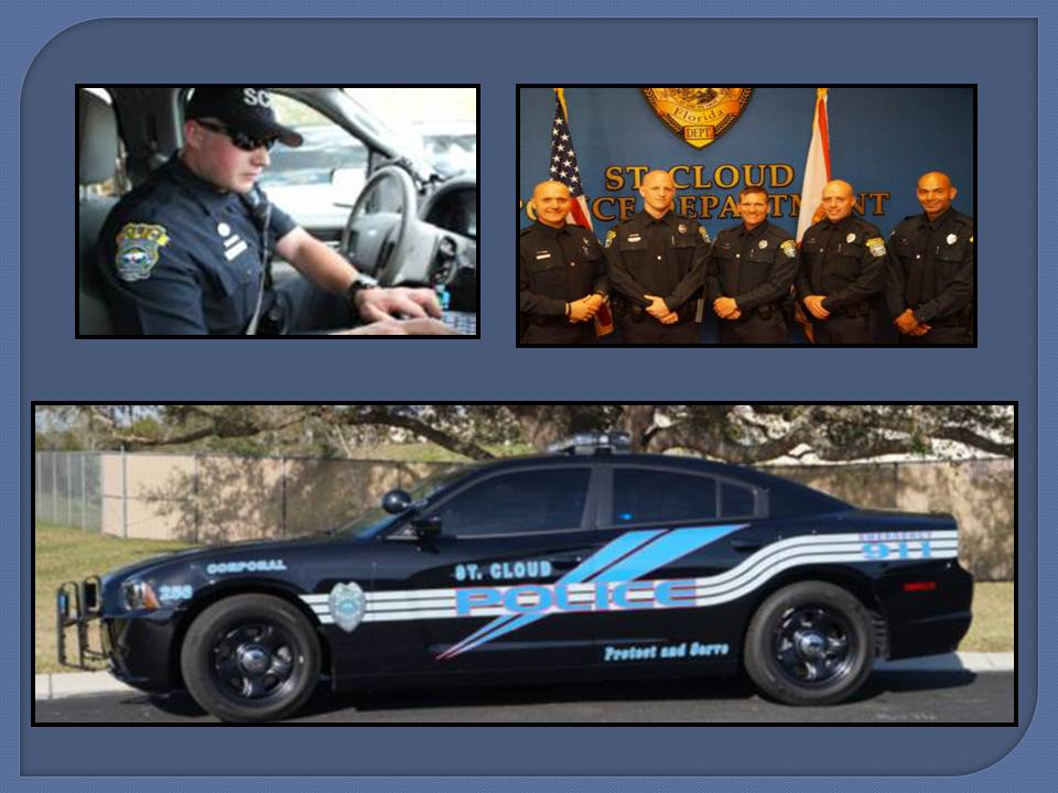 Patrol Officer in Vehicle - Group of Patrol Officers - Patrol Cruiser