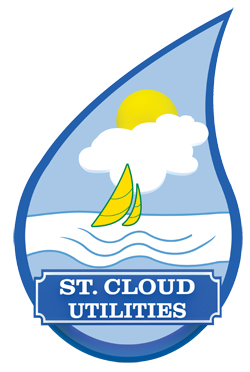 St. Cloud Utilities Water Droplet with Sailboat Logo