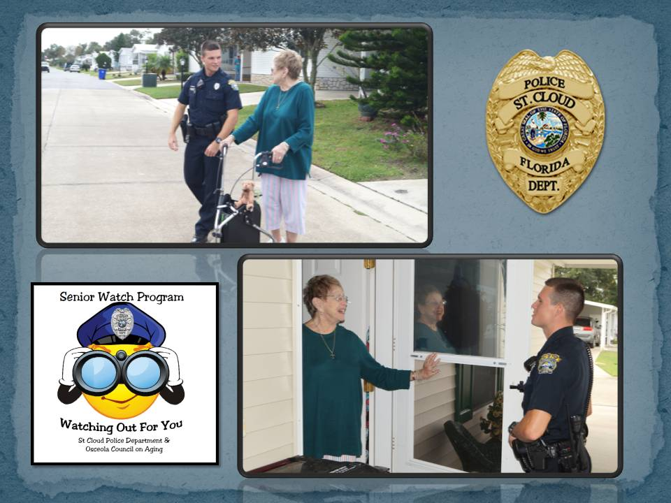 Senior Watch Program - Officer Visiting with Senior Woman