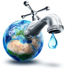 Faucet coming out of earth