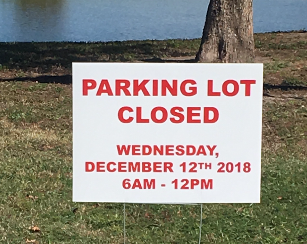 Lakefront Parking Closure 121218