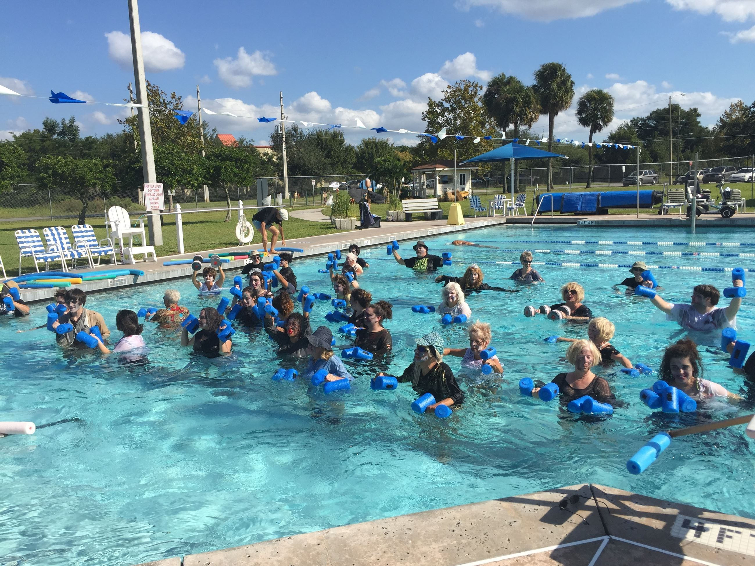 PHOTO OF AQUAFIT CLASS SESSION AT THE POOL