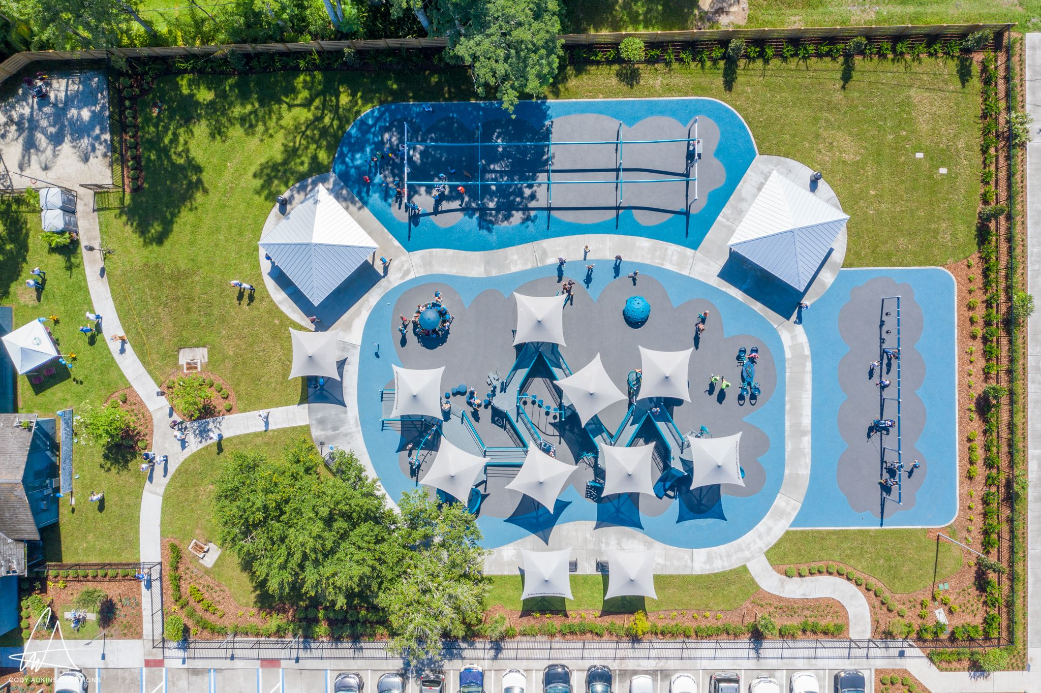 Cannery Park playground aerial view