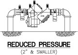 Reduced pressure (2 inches and smaller) diagram