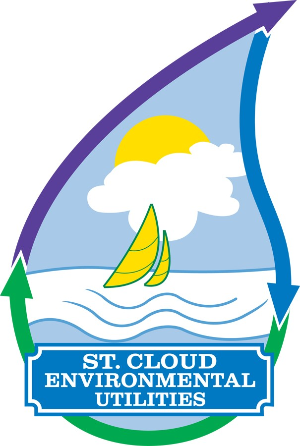 St. Cloud Environmental Utilities Water Droplet with Sailboat Logo
