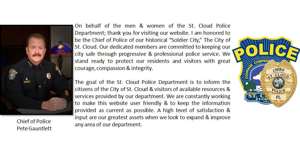 website message from chief