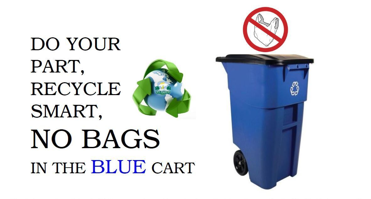 No Plastic Bags in the Blue Cart