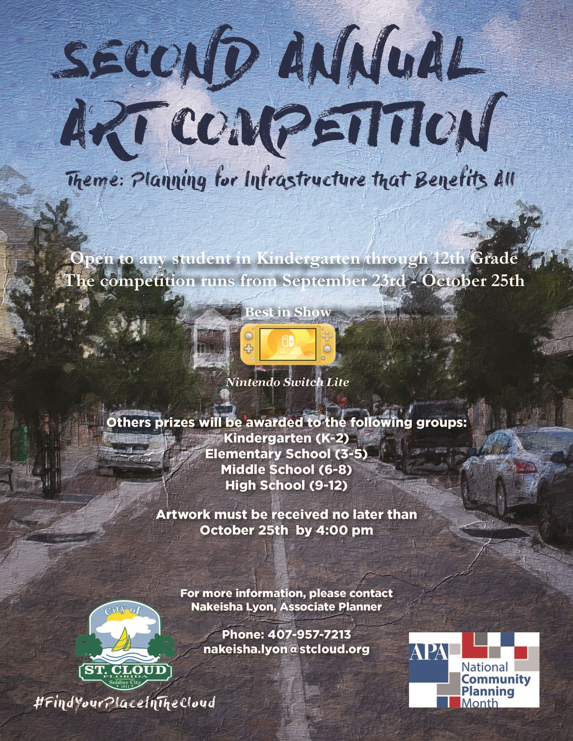 Art Competition for National Community Planning Month 2019 Poster